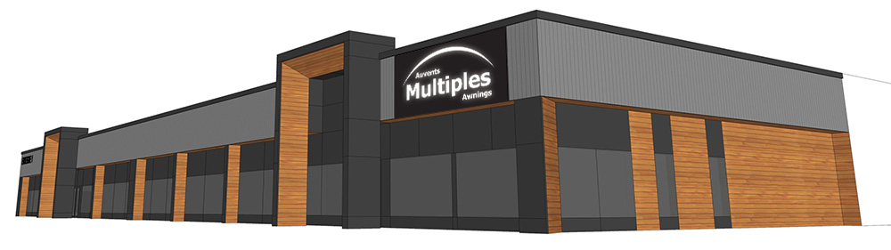 Multiple Awnings head office design